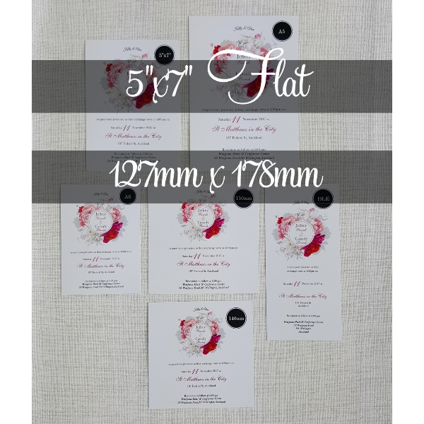 5x7 flat ordering mycards wedding invitations