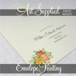 Art Supplied Envelope Printing