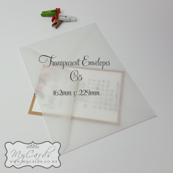 C5 Transparent Diamond Flap Envelopes