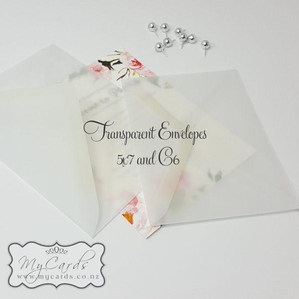 5x7 Transparent Diamond Flap Envelope 130mm X 185mm Vellum