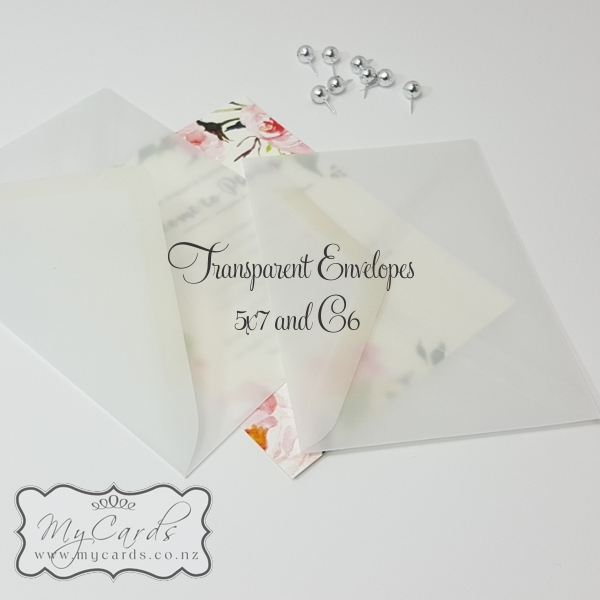 5x7 Transparent Diamond Flap Envelopes