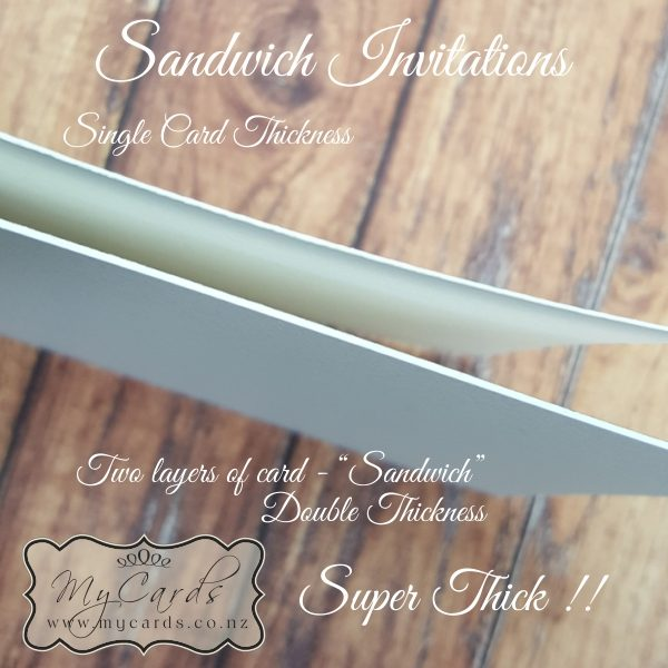 Sandwich Invitations Choose Size Choose Card Stock And