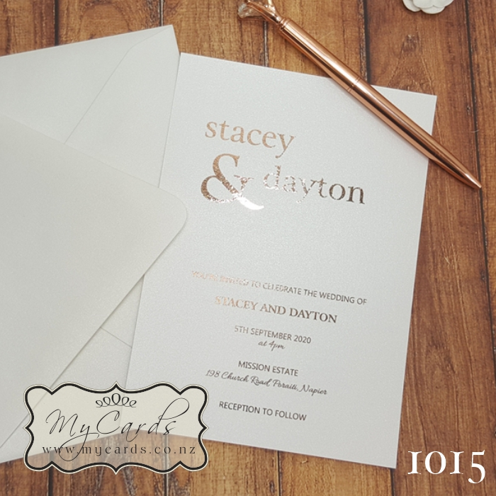 Gold foil print custom personalized rose gold art Metallic foil  card backed A3